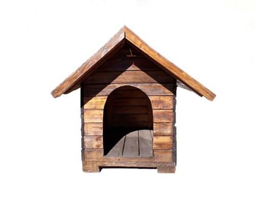 3a0dd055f72f Σπιτάκια σκύλου   Σπίτι σκύλου ξύλινο λευκό-γκρι 116 76 82cm